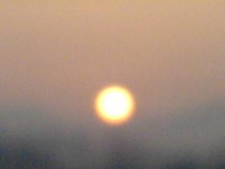 オレンジいろの朝陽